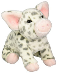 "Pauline Spotted Pig Plush Toy 10"" H"
