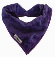 Silly Billyz Towel Bandana Bib, Purple, 0-2 Yrs