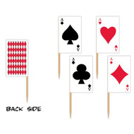 Playing Card Picks (asstd designs) Party Accessory  (1 count) (50/Pkg)