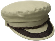 Aegean Unisex Cotton Greek Fisherman's Cap, Tan, 7