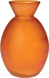 Luna Bazaar Vase (4' Oval Design, Mango Orange) - Decorative Flower Bud Vase - For Home Decor, Party Decoration