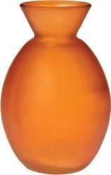 Luna Bazaar Vase (4' Oval Design, Mango Orange) - Decorative Flower Bud Vase - For Home Decor, Party Decoration