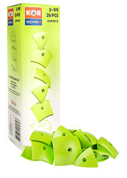 Geomag Kor Egg Covers - Green - 26-Piece Creative Magnet Cover Addition - Swiss Made - Part of Geomag's World Famous Award Winning Product Line - Ages 5 and Up