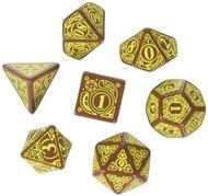 Steampunk Dice Brown/Yellow (7 Stk.) Board Game