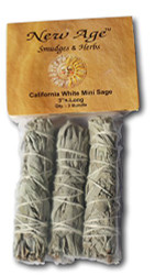 NewAge Smudges and Herbs MCWS3 California Mini Sage Wands, 4-Inch, Pack of 3,...