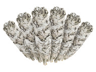 6 Pack - Premium California White Sage Smudge Sticks, Each Stick Approximately 4 Inches Long
