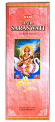 Hem Maha Saraswati Incense, 120 Stick Box