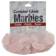 Decorative Accent Glass 1 lb Mesh Bag - Pink