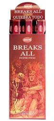 Hem Breaks All Incense, 120 Stick Box