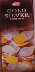 Hem Gold Silver Incense, 120 Stick Box
