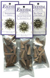 Escential Essences Cone Incense - Sandalwood - 16 Cone Package