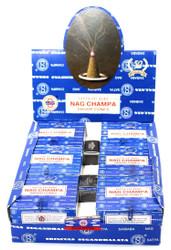 Satya Nag Champa Cones, 144 Cones Box