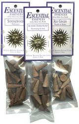 Escential Essences Cone Incense - Ebony Opium - 16 Cone Package