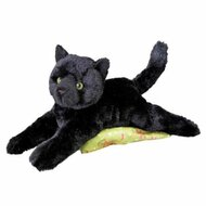 "Douglas Cuddle Toys Plush Tug Black Cat Soft and Cuddly (14"")"