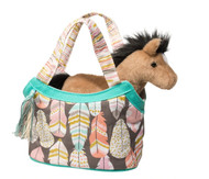 Dream Feathers Sassy Sak Little Girl's Tote Bag with Plush Horse