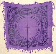 "1 X Celtic Altar or Tarot Cloth 18"" x 18"""