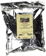 Starwest Botanicals Organic Papaya Leaf C/S, 1 Pound