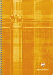 Clairefontaine 180 Page Wire-bound Graph Notebook 12 x 8.25 - Assorted Colors