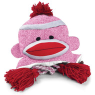 Pennington Bear Company The Original Sock Monkey Hat, Knit, Plush Material, Adult Size (Pink)