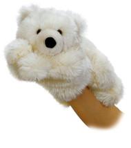 "Aurora World Slushy Polar Bear Hand Puppet, 11"" Plush Toy Animal"