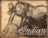 Indian Antiqued Tin Sign 16 x 13in