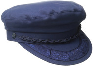 Aegean Unisex Cotton Greek Fisherman's Cap, Navy, 7 1/2