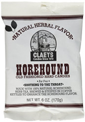 Horehound Hard Candy 6 ounce by Claeys Candy 6 COUNT