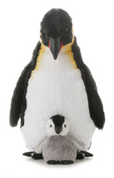 Aurora World Emperor Penguin With Baby, 12-Inches Plush Toy Animal