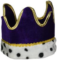 Plush Royal Crown (purple) Party Accessory  (1 count) (1/Pkg)
