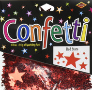 Beistle CN133 Red Stars Confetti, 1/2-Ounce