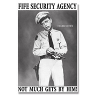Griffith Fife Security Agency Tin Sign 13 x 16in
