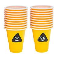 1 Oz Pile Of Happy Poop Emoji Plastic Party Shot Cups, One Pack Of 20