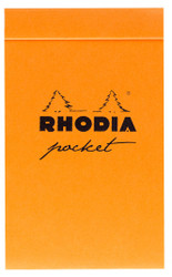 Rhodia Pocket Notepad- Dot Grid 40 Sheets - 3 x 4 3/4 - Assorted Color