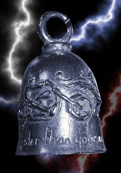 Guardian Never Ride Faster Than Your Angel Can Fly Motorcycle Biker Luck Riding Bell or Key Ring