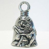 Guardian Biker Cat Motorcycle Biker Luck Gremlin Riding Bell or Key Ring