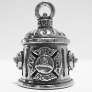 Guardian Firefighter Fire Hydrant Motorcycle Biker Luck Gremlin Riding Bell or Key Ring