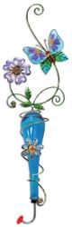 Sunset Vista Studios Colored Glass/Metal Hanging Hummingbird Feeder, Butterfly