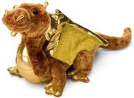 "Plush Topaz Golden Dragon 15"""