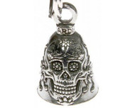 Sugar Skull Guardian Bell Motorcycle Accessory