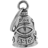 Guardian Bell John 3:16 Bible Pendant Lucky Charm For Motorcycles