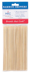 HIC Bamboo BBQ, Kabob and Grill Skewers, 6-Inches Long, Set of 100