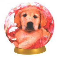 Unicorn Bed of Roses Puppy Puzzle Ball (60 Piece), One Color
