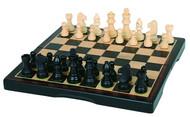 "Hansen Games Classic Ebony Inlaid Wooden Chess Set 15"" FoldingBoard /3"" King"