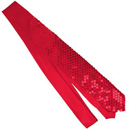 Jacobson Hat Company Men's Sequin Necktie, Red, Adult