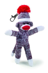 Pennington Bear Company Original Sock Monkey Key Chain, Hand-Knit, Plush Material, 7 inch