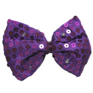 Jacobson Hat Company Men's Sequin Light-Up Bowtie, Purple, Adult