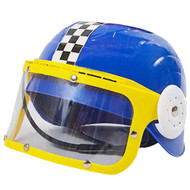Kids Plastic Racing Helmet Blue