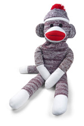 "Pennington Bear Co The Original Sock Monkey Hand-Knit Plush 40"" inch"