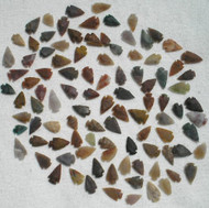 "Set Of 100 Arrowheads Agate New Replica 1/2 "" - 1 1/2 "" L"