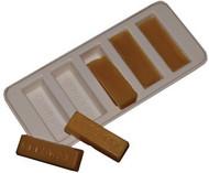 Beeswax Mold - Makes 5 x 1 ounce Wax Bars